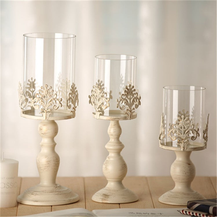 Elegant Votive Candle Holders - Column Candle/Ball Candle