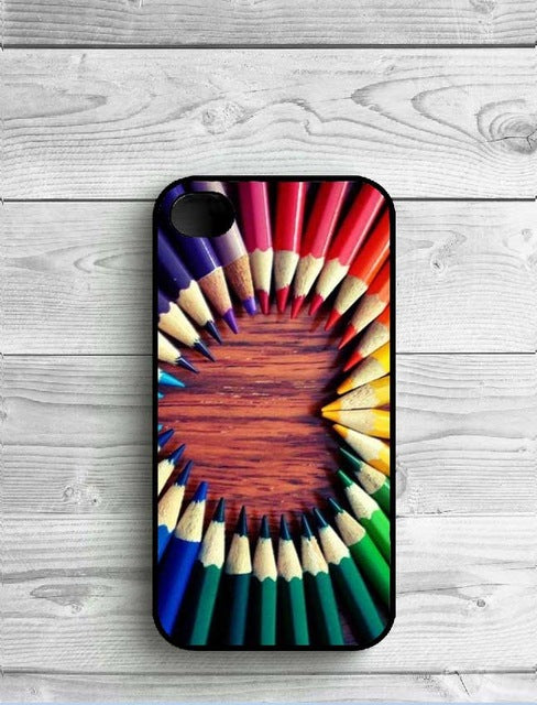 Color Pencils Colorful Wooden Phone Case Covers for iPhone - Phone Protector