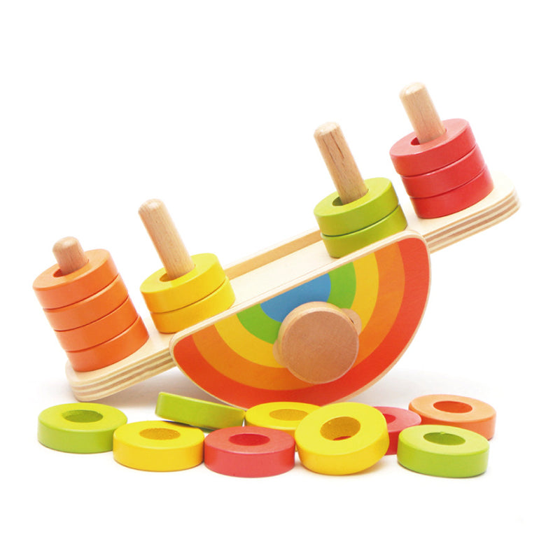 Rainbow Balance Blocks Seesaw Toy - Early Education