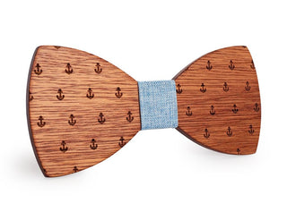 Classic Captain Wood Bow Tie - Wooden Gifts for Him