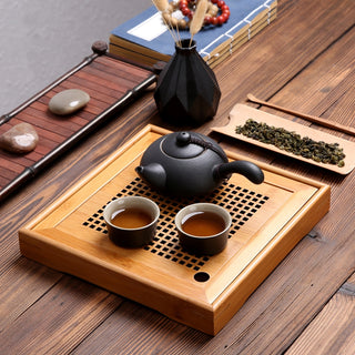 Traditional Natural Bamboo Kung Fu Tea Tray Square And Rectangle Tea board