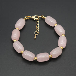 Pink Rose Quartz Natural Stone Beaded Bracelets
