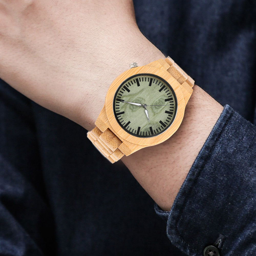 Casual Fashion Solid Bamboo Wooden Watch