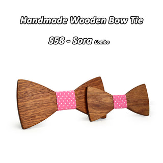 Daddy & Son Wooden Bow Ties Combo