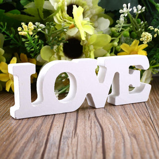 Free Standing LOVE Wood Letters Wedding Decor