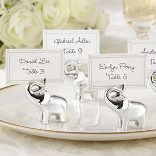 Baby Elephant Place Card Holders - 8pcs