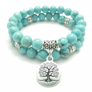 Tree of Life Natural Stone Healing Bracelet