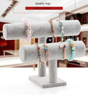 Velvet Plush Bracelet Display Stand Holder