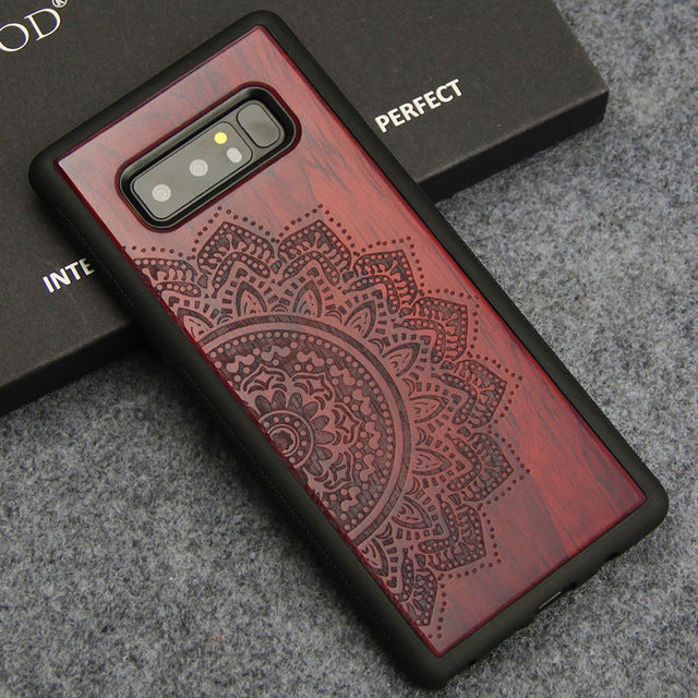 Samsung Note 8 Case Luxury Wood Carving Totem Tree Cover