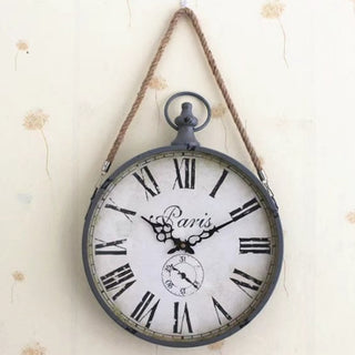 "Paris 14"" Iron Rope Wall Clock"