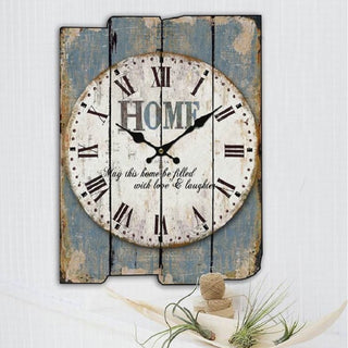 Home sweet home Decorative Wood Panel Wall Clocks