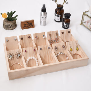 Earring Display Tray - Solid Wood Jewelry Holder