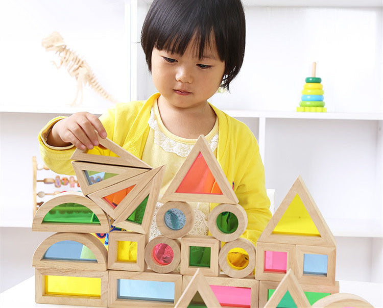 24Pcs Geometric Assembling Blocks