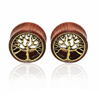 Tree of Life Wood Expanders Ear Plug
