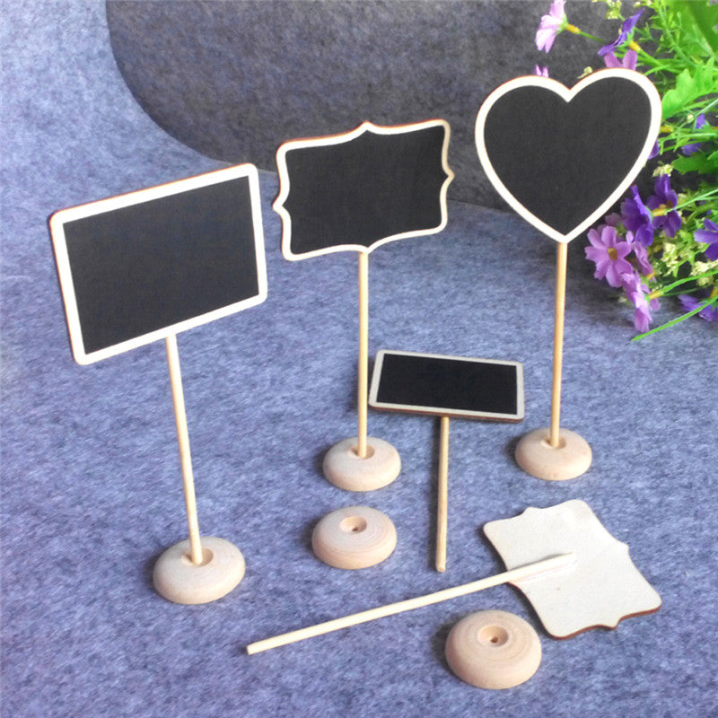 Mini Chalkboard Seat Stands - Lolly Heart Rectangle Pattern 12Pcs/lot