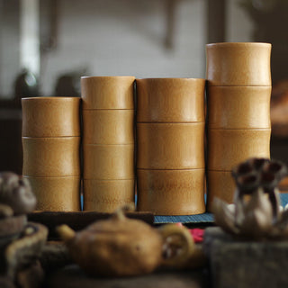 Bamboo Spice Storage Canister Jars - Tea, Coffee, Spices