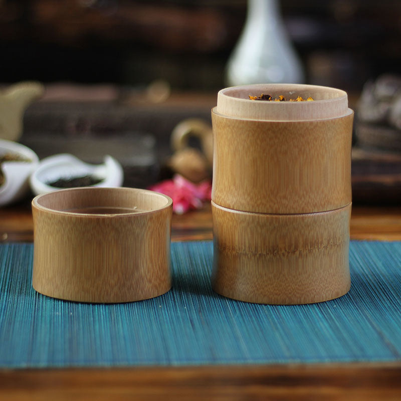 Bamboo Storage Canisters - Tea, Coffee, Spices