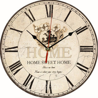 Home Sweet Home Large Vintage Wall Clock