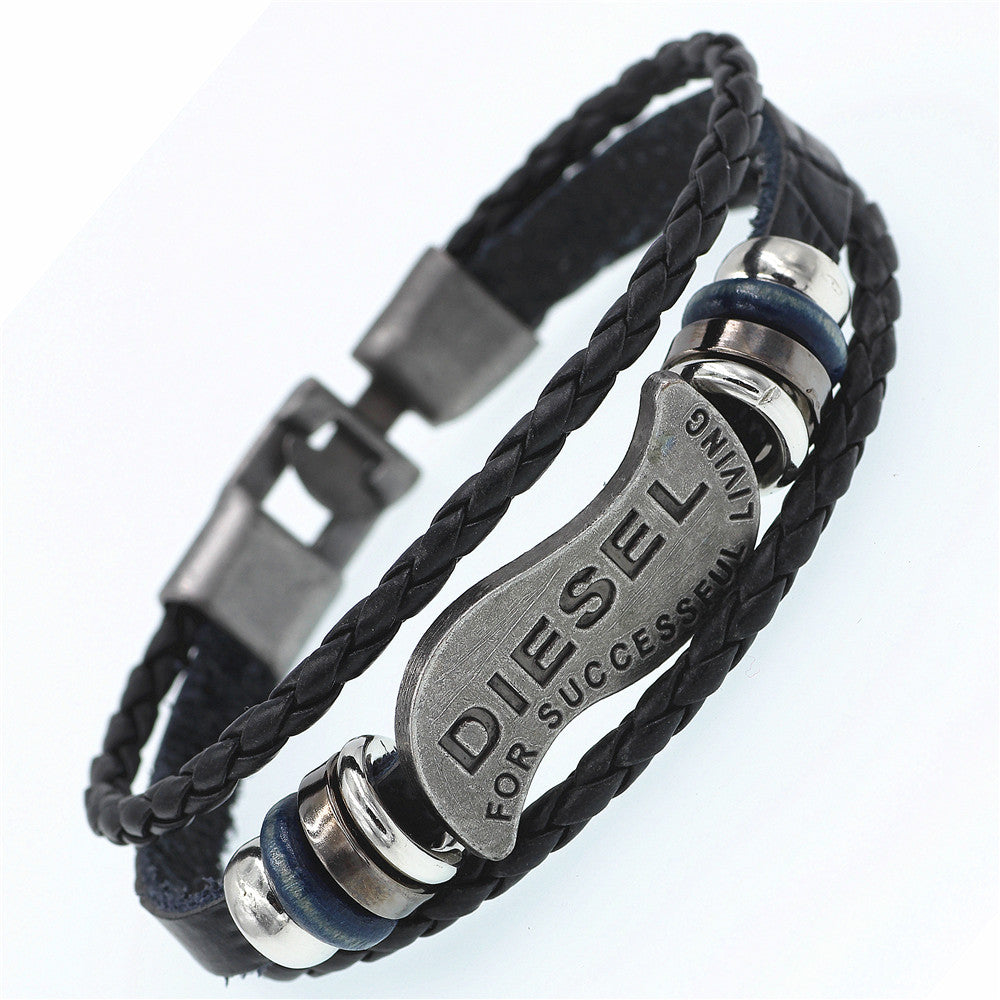 Men's Multilayer DIESEL Rope Bracelet