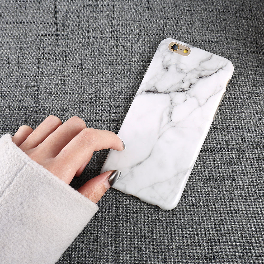 Marble Pattern Phone Protector Case For iPhone