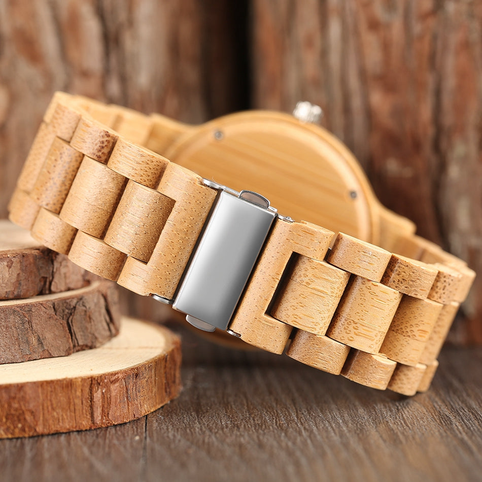 Unisex Multicolor Natural Wood Fashion Watch