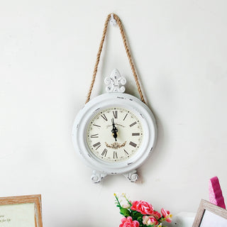 Saint Rope and Iron White Wall Clock