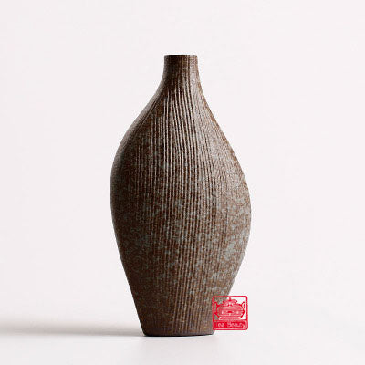 Brown Modern Terra-Cotta Ceramic Tabletop Flower Vase