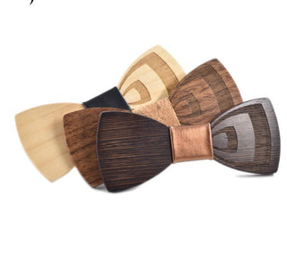Carved Fashion Wooden Bow Tie - Wooden Gifts