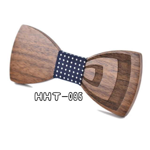 Carved Wooden Bow Tie - Wooden Gifts for him