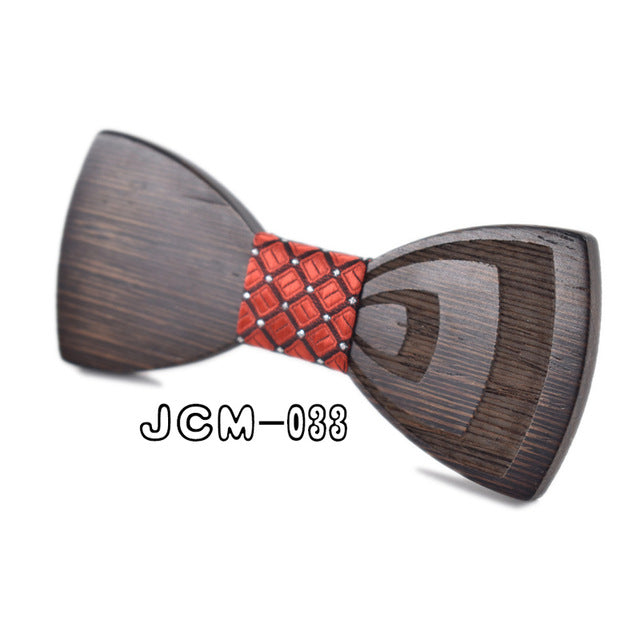 Carved Wooden Bow Tie - Wooden Gifts