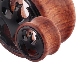 Bat Wood Hollow Ear Plugs Tunnel Expanders