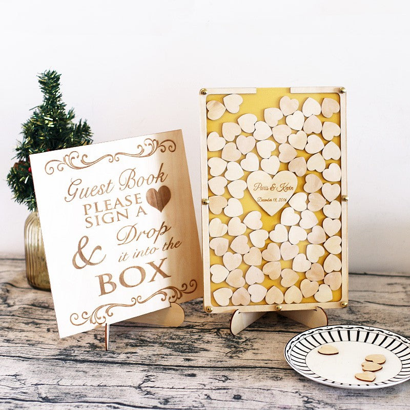 Rustic Wedding Guestbook Drop Box