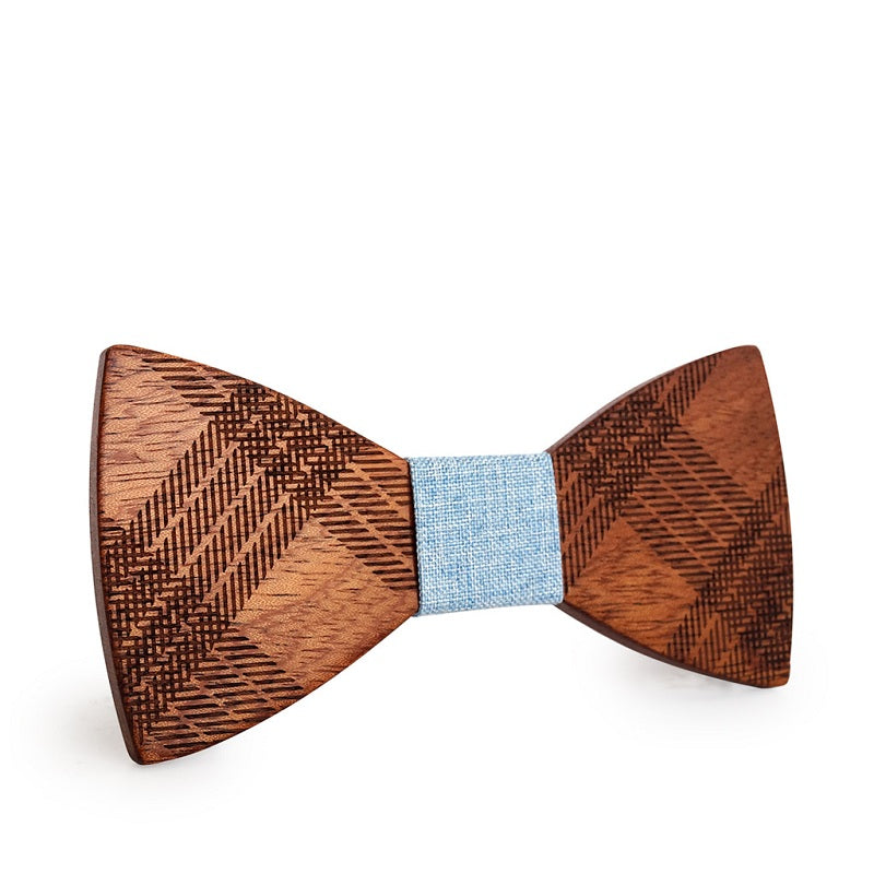 Classic Butterfly Knot Wood Bow Ties