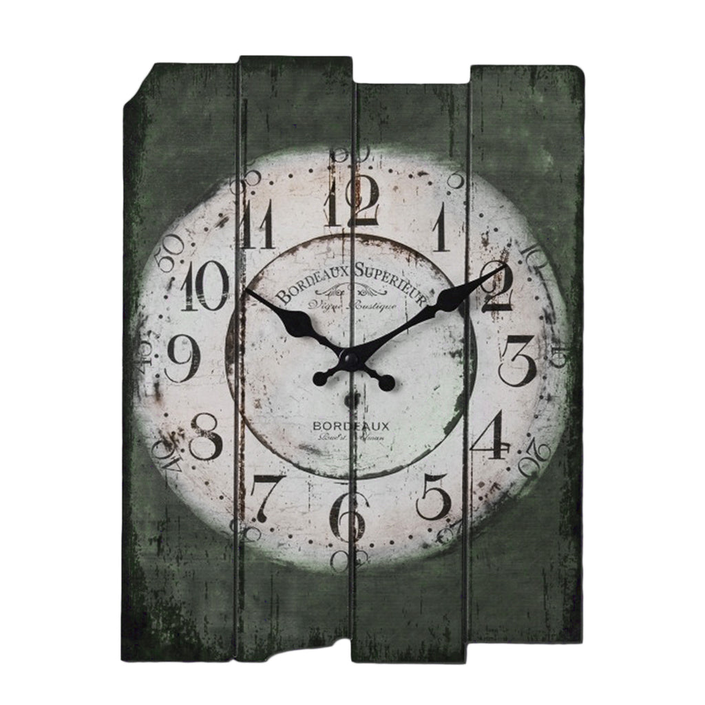 Large Roman Numeral Rectangle Wall Clock