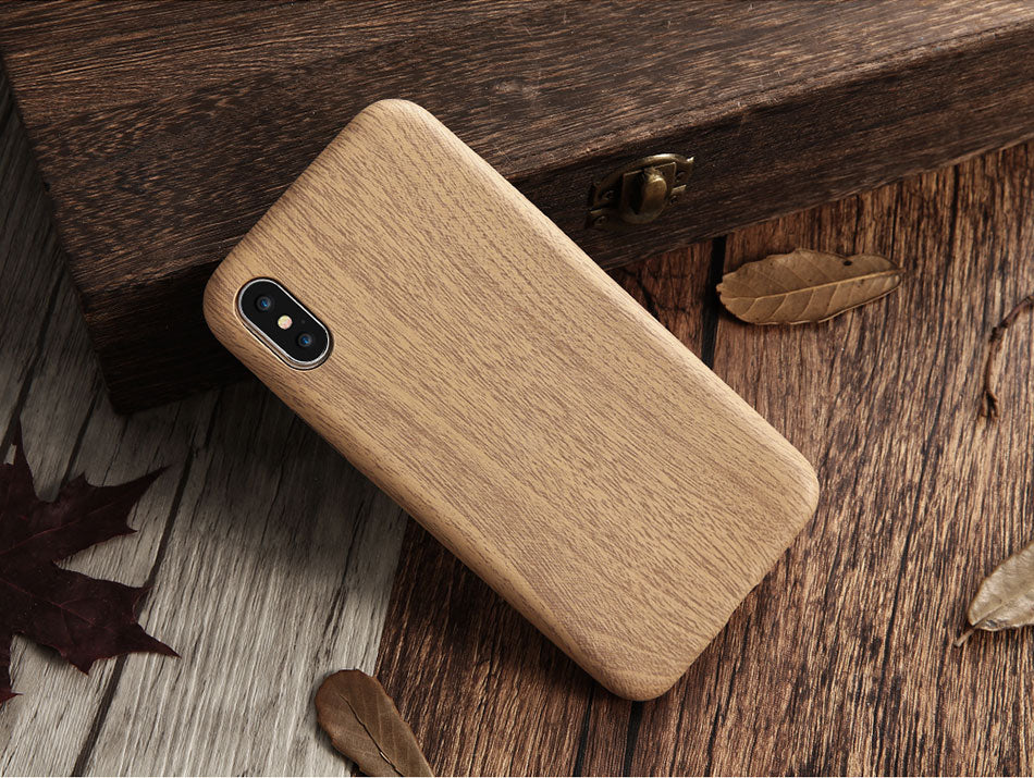 iPhone Wood Leather Case Covers