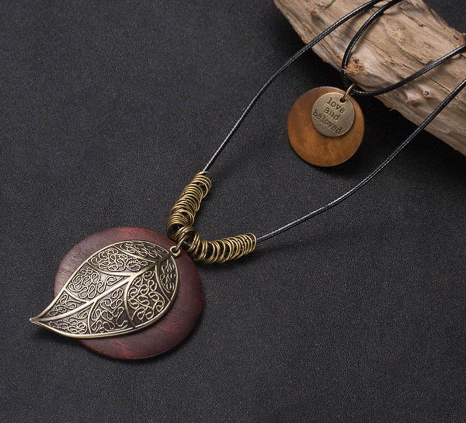 Long Multi-Layered Pendant Necklace