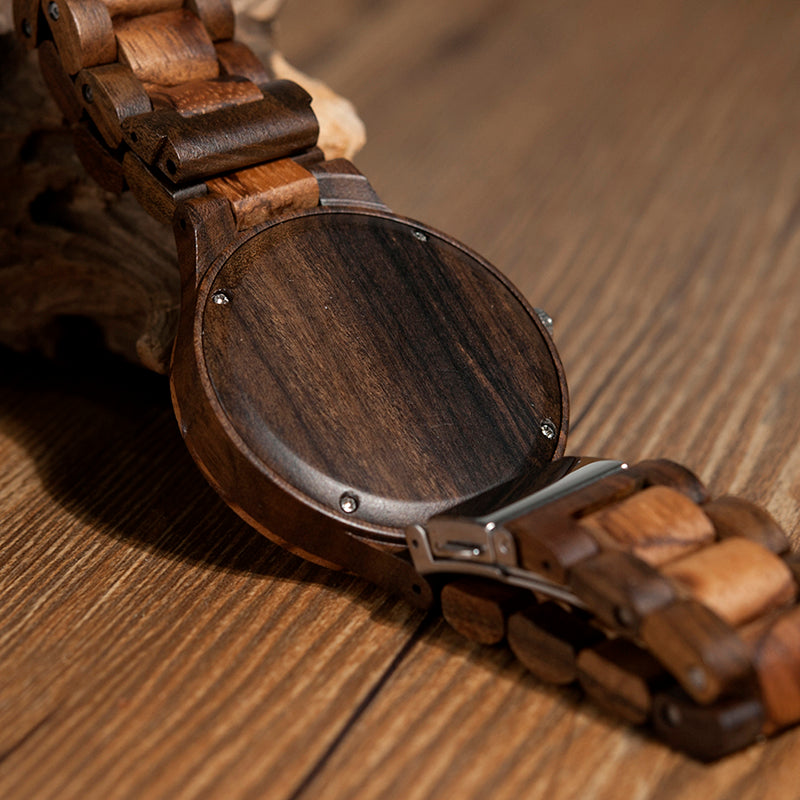 Unique Gradient Zebra Wood Watch