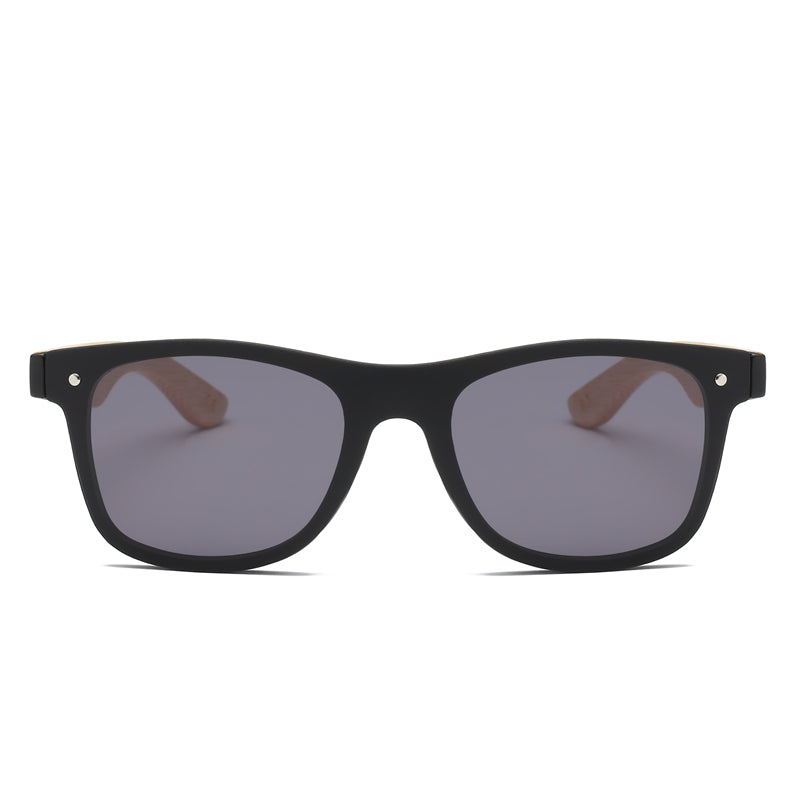 Bamboo Temple Wood Grain Sunglasses