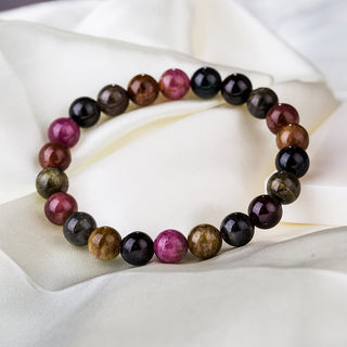 Colorful Tourmaline Bracelet - Natural Stone Bead Bracelet