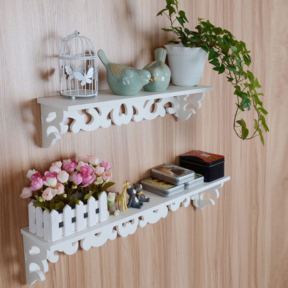 Decorative White Wall Hanging Shelves