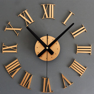 Large 3D Roman Numerals Wall Clock