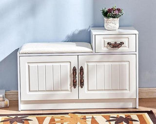 Modern 2 Cabinet European-Style Shoe Storage Bench