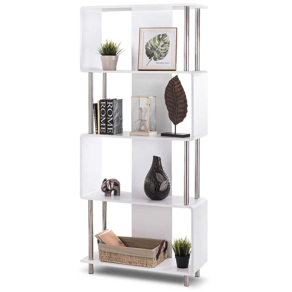 Industrial Modern 4 Shelf Living Room Bookcase