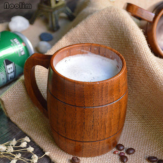 Wooden Barrel Beer Mug Coffee Mug