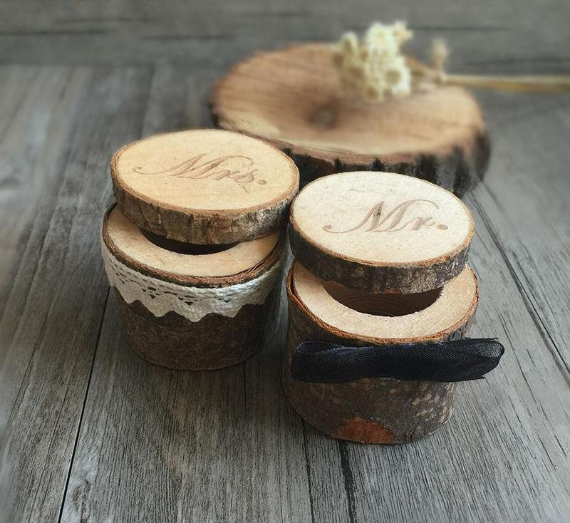 natural wood ring box. wooden wedding ring box for ceremony