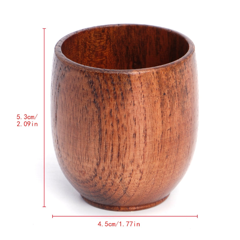 Traditional Handmade Natural Solid Wood Drinking Cup