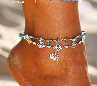 Stone Double Layer Anklets