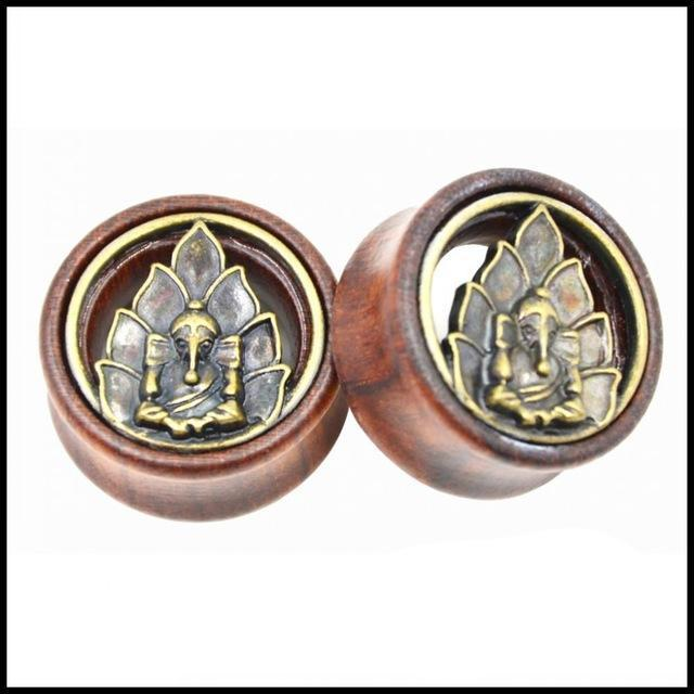 Lotus Design Ear Flesh Tunnel Plug Double Flared Saddle Ear Expander