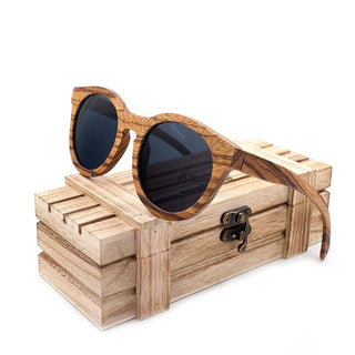 Vintage Wood Bamboo Polarized Sunglasses