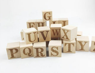 Wooden Letters. Wooden Blocks